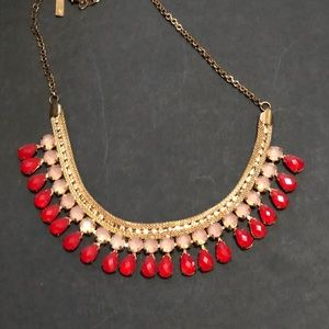 Bronze and Scarlet Statement Necklace from INC